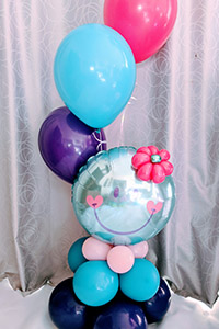 Smiley face balloons - Rosie O Birthday Parties