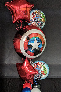 Kids Birthday Parties - Super hero themed balloons