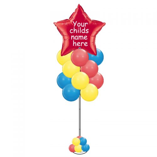 Personalised Star Balloon Column